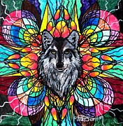 Vibration Framed Prints - Wolf Framed Print by Teal Eye  Print Store