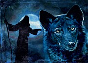 Veterinary Digital Art Prints - Wolfdog Hybrid Print by Tisha McGee