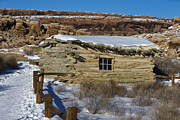 Log Cabins Art - Wolfe Ranch Cabin Arches National Park Utah by Jason O Watson
