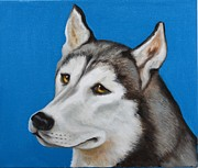 Huskies Prints - Wolfie Print by Cynthia Olson