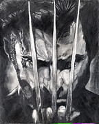 Wolverine Drawings Prints - Wolverine 3 Print by Scott Parker