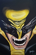 Wolverine Paintings - Wolverine by Erik Pinto