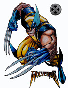 Wolverine Mixed Media Framed Prints - Wolverine image 2 Framed Print by Scott Parker