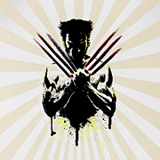 Cartoon Spider Prints - Wolverine Print by Mark Ashkenazi