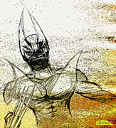 Dc Comics Drawings - WOLVERINE Sketch  by Jazzboy