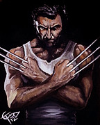 Wolverine Paintings - Wolverine by Tom Carlton