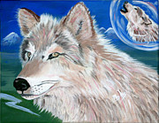 Beautiful Wolf Prints - Wolves Print by Phyllis Kaltenbach