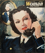 Ww2 Drawings Posters - Woman 1940s Uk Navy Women At War  Ww2 Poster by The Advertising Archives