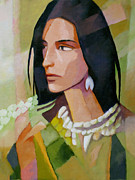 Woman Artwork Painting Framed Prints - Woman 2006 Framed Print by Lutz Baar