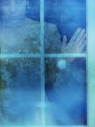 Woman At A Window Print by Jill Battaglia