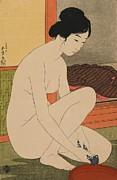 Goyo Hashiguchi - Woman Bathing Taisho era