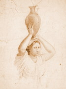 Jugs Prints - Woman Carrying Jug 1820 Print by Padre Art