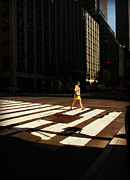 At Work Posters - Woman Crossing the Street - New York City Poster by Miriam Danar