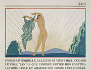 Nude Sunset Framed Prints - Woman Dancing Framed Print by Georges Barbier