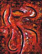 Abstract Expression Paintings - Woman Dancing by Kamil Swiatek