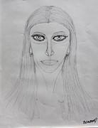 Pen And Ink Drawing Drawings - Woman by Fred Miller