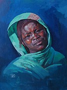Mohamed Fadul Posters - Woman from Darfur Poster by Mohamed Fadul