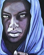 Head Painting Originals - Woman from the Congo by Shirl Theis