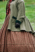 Knitted Dress Posters - Woman from the Nineteenth Century Poster by Stephanie Frey