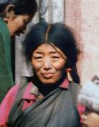 Tibet Digital Art Prints - Woman from Tibet Print by Kurt Van Wagner