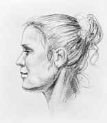 Model Drawings - Woman Head Study by Irina Sztukowski
