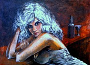 Passionate Paintings - Woman In Dark by Nestor Martinez