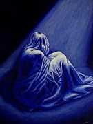 Woman In Despair  Print by Annie Zeno