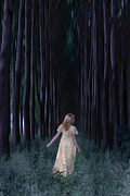 Spring Dress Posters - Woman In Forest Poster by Joana Kruse