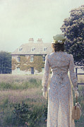 Woman Photos - Woman In Front Of A Manor by Joana Kruse