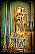 Young Girl Mixed Media Originals - Woman in Glass by Chuck Staley