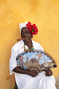 Santeria Photo Framed Prints - Woman in Havana Framed Print by Alex Segre