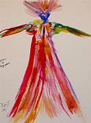 Gown Painting Originals - Woman in Long Gown by Troy Thomas