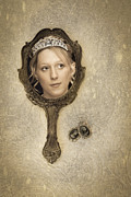 Mirror Reflection Posters - Woman In Mirror Poster by Christopher and Amanda Elwell