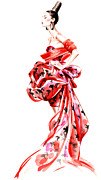 High Fashion Originals - Woman in Red Gown by Angelo Divino