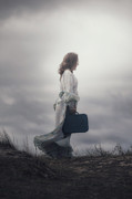 Luggage Prints - Woman In The Dunes Print by Joana Kruse