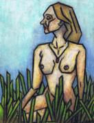Woman In The Meadow Print by Kamil Swiatek