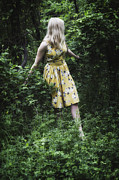 Beautiful Young Woman Prints - Woman In The Woods Print by Joana Kruse