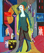 Ernst Ludwig Kirchner - Woman is Walking over a Nighty Street