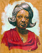 African-american Painting Posters - Woman of Color Poster by Harry West
