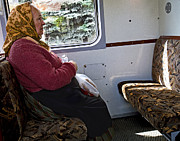 Hungary Travel Photos - Woman on Train - Budapest by Madeline Ellis