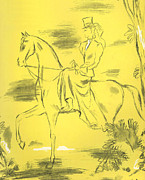 Nineteen-thirties Drawings Prints - Woman Riding 1939 1930s Uk Riders Print by The Advertising Archives