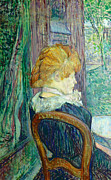 Woman Sitting In A Garden Print by Henri de Toulouse-lautrec