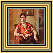 Digital Framed Prints - Woman Sitting In Chair Framed Print by Gary Grayson