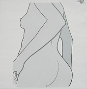 Nipple Originals - Woman standing with an erect nipple by P Mc