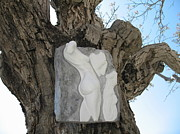 Ceramic Relief Sculpture Posters - Woman torso - cast 1 Poster by Flow Fitzgerald