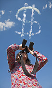 Young Money Originals - Woman watching with binoculars by Deyan Georgiev