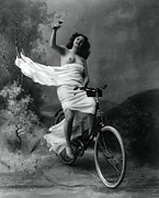 Love Of Life Prints - Woman - Wine - Bicycle  1897 Print by Daniel Hagerman