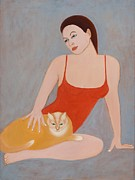 Svetlana Neal - Woman with a cat