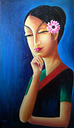 Sazeed Shakya - Woman with a Flower