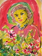 Relly Peckett - Woman with flowers